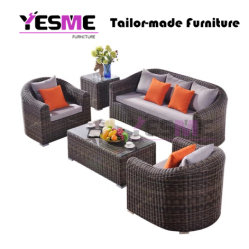 Fashion Wholesale Outdoor Rattan Garden Wicker Furniture Sofa