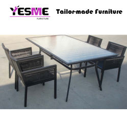 Modren Aluminum Long Table Garden Chairs Dining Furniture Set