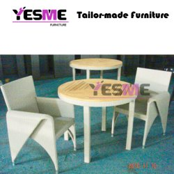Modern Garden Outdoor Leisure Furniture Resting Area Table and Chairs Rattan Sofa Set