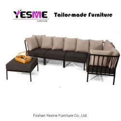 Modern Aluminum Sofa Lounge Sets Leisure Chair Chinese Patio Garden Hotel Beach Bar Cafe Restraurant Outdoor Furniture