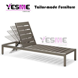 Hot Selling Outdoor Beach Furniture Wicker Aluminum Lounge Outdoor Sun Chaise Lounge Chair