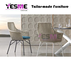 Modern Outdoor Garden Hotel Home Leisure Rattan Furniture Chair Dining Arm Chair