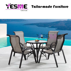 Outdoor Furniture Modern Garden Outdoor Home Livingroom Resort Hotel Leisure Aluminum Chair and Table