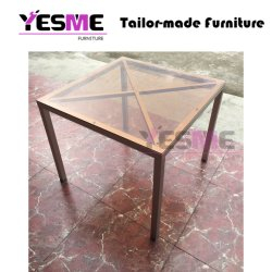 Modern Outdoor Home Hotel Furniture Aluminum Table