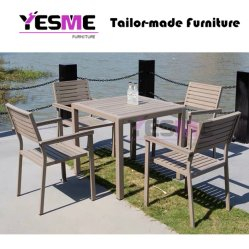 Outdoor Garden Commercial Furniture Aluminum Polywood Dining Set /Patio Chairs Aluminum Table Dining Table Set
