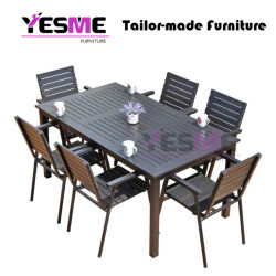 Outdoor Garden Commercial Furniture Aluminum Dining Set/Patio Chairs Aluminum Table Dining Table Set