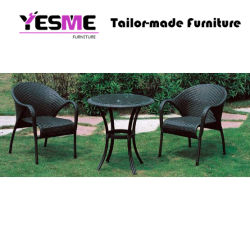Garden Outdoor Furniture Dining Table Set Rattan Table and Chair Set