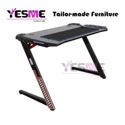 Chinese Gaming Desk Office Computer Table PC High Quality Powder Coating Desk