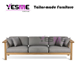 Home Furniture Garden Furniture Hotel Furniture Fabric Wooden Outdoor Furniture Sofa Set for Teak Furniture