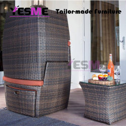 Cheap PE Outdoor Rattan Sofa Sets Garden Wicker Sofa Furniture