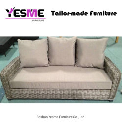Yesme Elegant Patio Round Rattan Wicker Sofa Garden Hotel Home Livingroom Outdoor Furniture