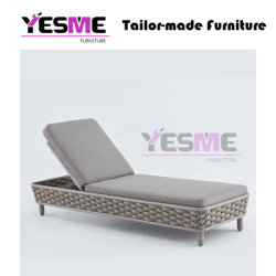 Garden Hotel Used Outdoor Rattan Chaise Lounge Suit Chair Lounge