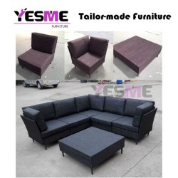 Outdoor Patio Garden Hotel Furniture Fabric Sofa Set