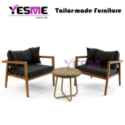 Modern Hotel Outdoor Home Livingroom Garden Furniture Sets Teak Table Chair