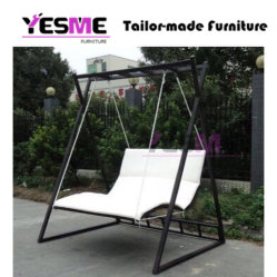 Outdoor Garden Hammock Swing Chair Metal Frame Canopy Garden Swing with Cushion