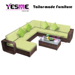 Modern Classical Patio Leisure Hotel Outdoor Garden Furniture Rattan Lounge Sofa Set Loungers Rattan Furniture