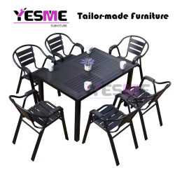 Outdoor Garden Commercial Furniture Aluminum Dining Set/Patio Chairs Aluminum Table Dining Table Sets