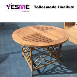 Wholesale Wooden Table Garden Restaurant Home Round Table Dining Table