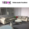 Outdoor PE Round Rattan Wicker Furniture Gadern Sofa Set with Coffee Table