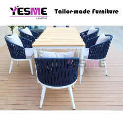 Outdoor Furniture Modern Garden Hotel Home Livingroom Resort Hotel Leisure Rattan Chair and Table