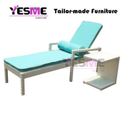 Modern Outdoor Garden Hotel Resort Home Furniture Beach Chair Poolside Garden Sun Loungers Daybed with Table