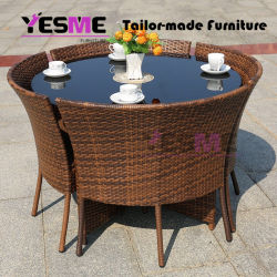 Modern Wicker Garden Bistro Pool Rattan Bar Table Sets