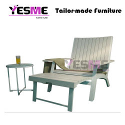 Outdoor Aluminum Polywood Beach Hotel Sun Chaise Lounge Chair Daybed