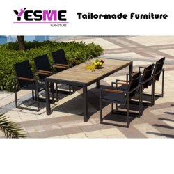 Modern Garden Outdoor Furniture Cafe Restaurant Aluminum Chair Table Set