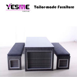 Garden Hotel Lounge Area Sofa Outdoor Rattan Furniture Without Back