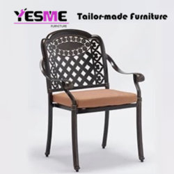 Cast Aluminium Dining Table and Chair Outdoor Garden Hotel Furniture