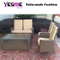 Outdoor Rattan Dining Table Furniture Set Hotel Dining Sofa