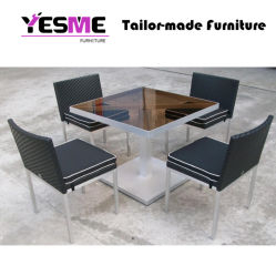 Latest Rattan Dining Table Set Garden Hotel Outdoor Patio Furniture
